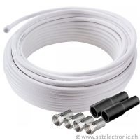 Sat-Kabel Set Meterware 20m 7mm 120dB